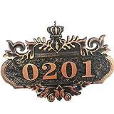Numero Di Casa, BYDNB Numero Civico Acrilico Targhetta Dell'indirizzo Numero Della Villa Del Dormitorio Dell'hotel Dell'hotel Domestico Insegna Di Fascia Alta (Size : 13×20CM)