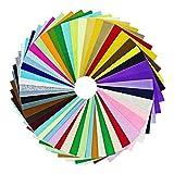 Tela de fieltro multicolor ciaoed hecha a mano de poliéster 30 x 30 cm, fieltro artesanal, 42 colores