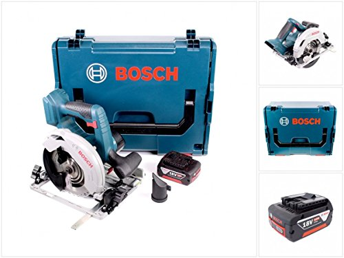 Preisvergleich Produktbild Bosch GKS 18 V-57 G Professional Akku Kreissäge mit 1x GBA 5,0 Ah Akku und L-Boxx