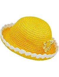 EveryHead Niñas Sombrero De Paja Niños Tela Verano Playa Equinácea  Ganchillo Vacaciones Con Flores Ornamentales Para Chica… 8b71a6c99e6