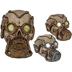 Hucha calavera con máscara de gas - Gadget and Gifts