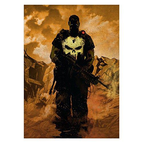 er Wandbild mit Klebemagnet Marvel 45x32cm (Marine Corps Dekorationen)