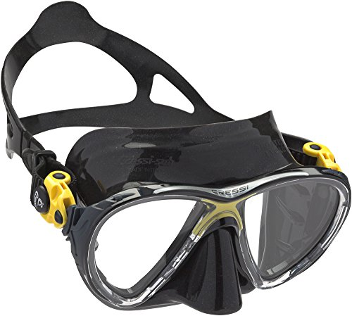 Cressi Big Eyes Evolution - Gafas de buceo unisex, color negro / amarillo