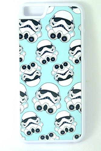 Star Wars Stormtrooper sur tout imprimé sur fond bleu clair (iPhone 6/6S 11,9cm Housse/étui en plastique rigide pour téléphone Blanc