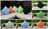 garden mile 45cm x 45cm Wasserfest Für Drinnen/Außen Gartenmöbel Terrassen Set Deko Kissen in Verschiedenen Farben, Maschinenwaschbar Garten Kissen - Hellblau