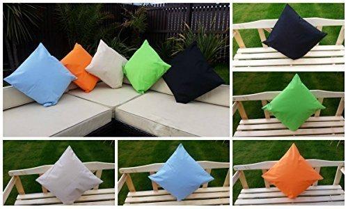 Jardin Mile® 45cm x 45cm résistant à l'eau intérieur/extérieur jardin Set de meubles de jardin Oreillers Coussins de jardin en différentes couleurs, lavable en machine bleu clair