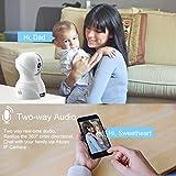 Dome Kamera - Atuten WiFi IP Kamera 1536P Wireless Überwachungskamera,Smart Home Kamera mit Nachtsicht,Auto-Rotation,2 Wege Audio,Bewegungsalarm,64G TF Card,Baby Monitor,Kompatible mit Alexa Echo Show - 6