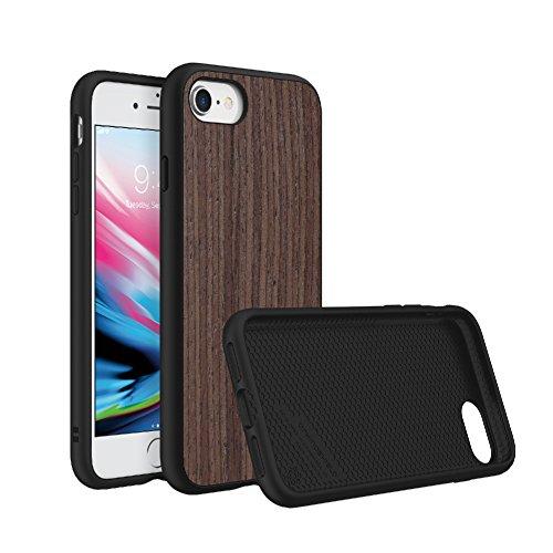 Rhino Shield Case für iPhone 8 / iPhone 7 [SolidSuit]| Schock Absorbierende Schutzhülle mit Premium Finish [3,5 Meter Fallschutz] - Dunkle Walnuß - Dunkle Braune Farbe Finish