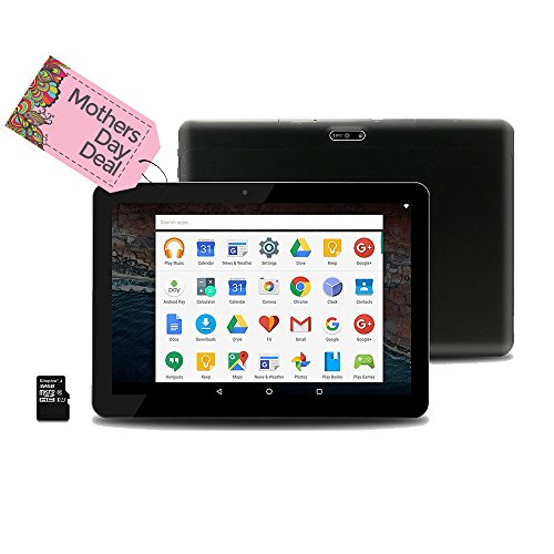 10.1 inch Android Tablet PC Quad Core - 256GB Storage Tablet - HD 1024x600 - 1GB RAM + 16GB Memory - WiFi, Bluetooth 4.0, HDMI, GPS - Sky Go! Netflix, Amazon Video Prime Tablet
