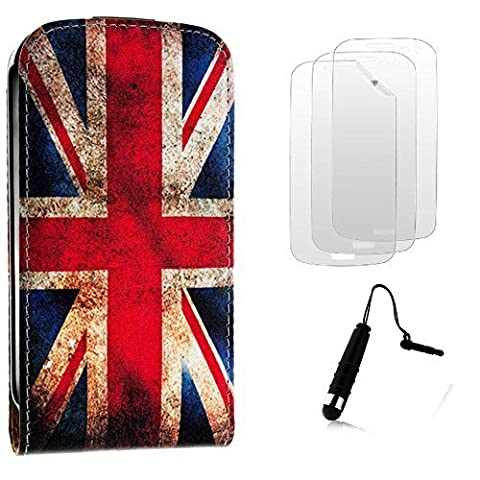 Etui housse pochette Coque Silicone Gel UK vintage Smartphone Samsung Galaxy Grand Plus i9060 i9080 i9082 + 3 films et 1 stylet offert by Campus Telecom®