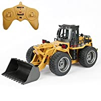 TekBox 6 Channel RC Remote Control Bucket Truck 2.4Ghz Full Functional Battery Powered Construction Toy