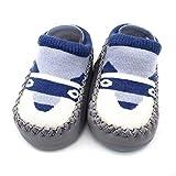 TJBGADIEMS Newborn Boys Girls Slipper Boots Novelty Socks 12-18 Months Lovely Cartoon with Soft Thermal Rich Cotton Warmer Baby Shoes Gray Puppy 12CM DN37
