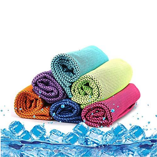 YMCHE Instant Cool Ice Handtuch Kühltuch EIS-Handtuch ALS Kühlendes Nackenband Bandana Schal, Ligh Gray, 30 * 90cm (Eis Angeln Handtuch)
