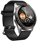 jpantech smartwatch Orologi Touch IP68 Impermeabile Salute Watch Bluetooth Trackers Fitness Compatibile con Android e iOS per Uomo/Donna/Bambini(Orange)