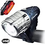 Eagle Eye USB Rechargeable Bike Light Set by Apace - Powerful 300 Lumens