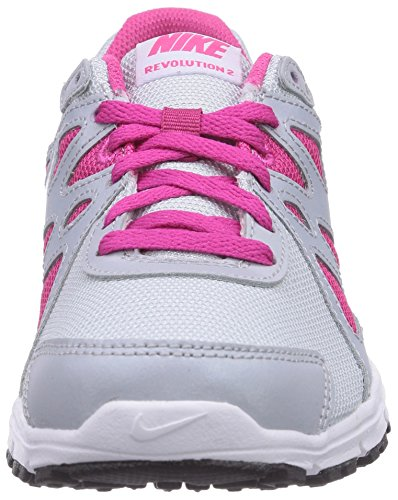 Nike Revolution 2 GS Scarpe Sportive, Ragazzo Pr Pltnm/Blk-Ht Pnk-Mtlc Pltnm