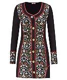 Joe Browns Women's Winter Charm Tunic Long Sleeve Top, Multicoloured (A-Black Multi A), 12
