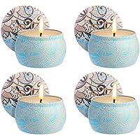 Keramik-Kerzenhalter Geburtstag Mystery Mountain 5 Mini-Duftkerzen Jahrestag oder Valentinstag Herzform Geschenkset f/ür Weihnachten