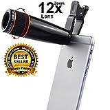 Zebrics 12X Telescope Camera Lens for Smartphone (Black)