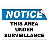 Notice this area sotto videosorveglianza sicurezza Funny yard decorativo segni per esterni Home metal aluminum Sign