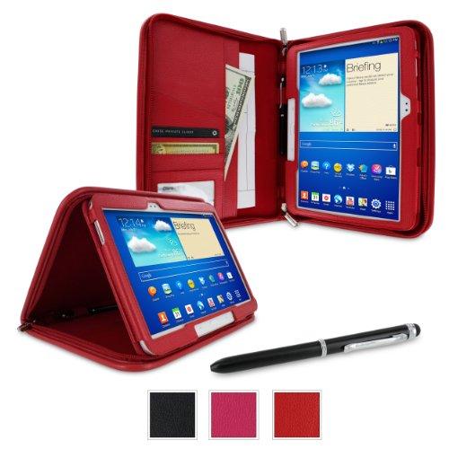 rooCASE Samsung GALAXY Tab 410.1/Galaxy Tab 310.1Esecutivo Portafoglio cover, Red,