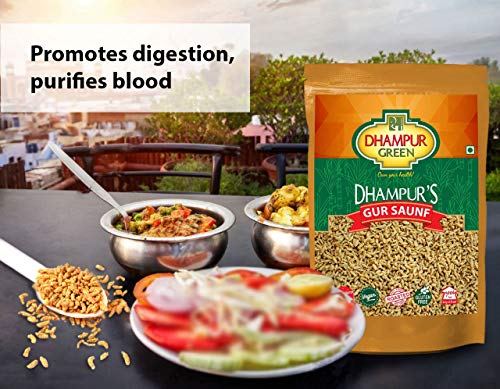 Dhampure Speciality Jaggery Coated Fennel Seeds (Mouth freshener)/ Gur Saunf (mukhwas) (750g)