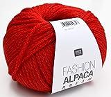 Rico Fashion Alpaca Dream, Fb. 013 – rot, wirklich traumhaft weiche Mischung aus Merinowolle und Alpaka Wolle Nadelstärke 8 mm