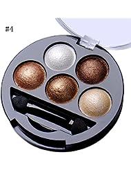 ILOVEDIY 5 couleurs fard à paupières pailleté mat metallique Ombre à paupières au four poudré Shimmer Palette...