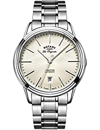 Rotary Men's Quartz Off-White Dial Analogue Display and Silver Stainless Steel Bracelet GB90161/32