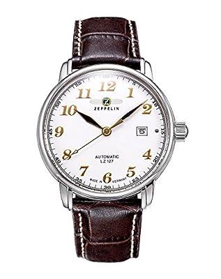 Zeppelin 76561 - Reloj de caballero automático, correa de piel color marrón de Zeppelin