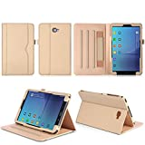 ISIN Tablet Fall Serie Premium PU-Leder Schutzhülle für Samsung Galaxy Tab A 10.1 Zoll SM-T580 T585 FHD WIFI 4G LTE Android Tablet PC (Mehrere View Engel, Gold)