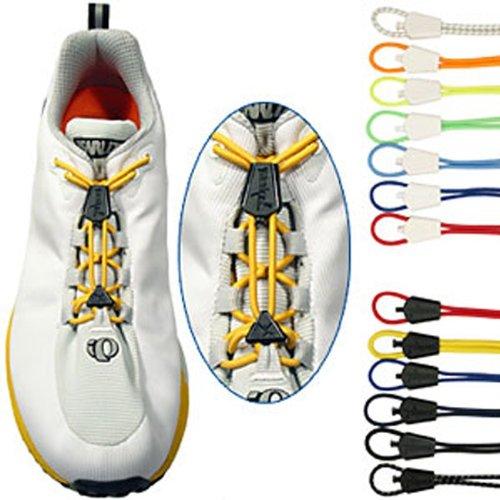 Yankz Schnürsystem automatischer Schnürsenkel 2 Paar , FARBEN:neongelb