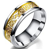 Best Men's Wedding Bands - Peora Dragon Gold Celtic Tungsten Carbide Comfort Fit Review