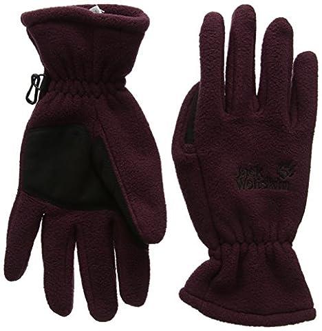 Jack Wolfskin Handschuhe Artist Glove M Braun - Brown - Dark Berry (Glove Dark Shadow)