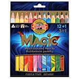 Koh-I-Noor MAGIC Jumbo Crayon de Couleur Triangulaire (Lot de 13)