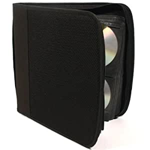 Black Mesh CD 144 Case (Holds up to 144 CDs in a protective wallet)