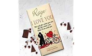 Rage I Love U Dark Almond Chocolate - 90 Grams