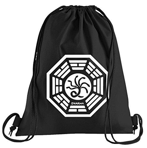 T-Shirt People Dharma Lost The Hydra Logo Sportbeutel - Bedruckter Beutel - Eine schöne Sport-Tasche Beutel mit Kordeln (Lost Dharma Kostüm)