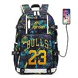 Joueur de Basket-Ball Star Michael Jordan Sac à Dos Multifonction Voyage étudiant Sac à Dos Fans Bookbag pour Hommes Femmes (Style 5)