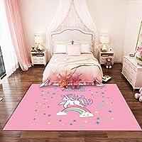 JWANS Bedroom Carpet Cute Unicorn Anti Slip Floor Mat Living Room Rugs Girls Birthday Gift
