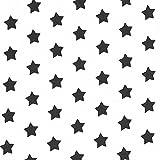 Baumwolljersey Kleine Sterne 2 – Schwarz — Meterware ab