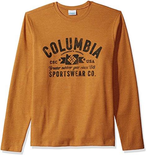 Columbia herren   Henley Shirt  -  gelb -  (Columbia Henley)