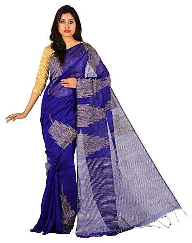tjsarees Silk Saree (bluetemple_Blue_Free Size)
