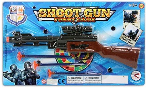 Gewehr + Suchfernrohr Pfeilgewehr 34 CM mit 3 (30 Min Kostüm)