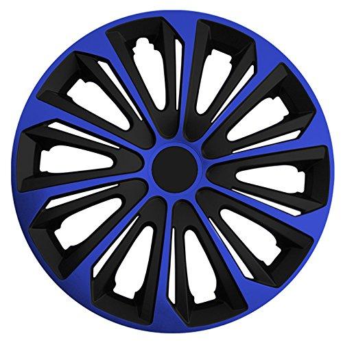 (Größe wählbar) 16 Zoll Radkappen / Radzierblenden STRONG Bicolor (Schwarz-Blau) passend für fast alle Fahrzeugtypen - universal -
