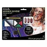 shoperama Diverse Halloween Schminksets Vampirin Zombie Blut Schminke Wunden Narben Vampir-Zähne Kunstblut Make-up, Namen:Zombie