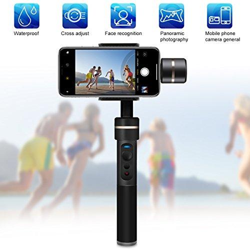 Feiyu Tech SPG Perche à Selfie Stabilisateur 3 Axes Gimbal Pour Smartphone, Téléphone Portable, GoPro Compatible avec iPhone Android Samsung