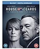 House of Cards Staffel 1-5 Blu Ray (EU-Import mit deutschem Ton)