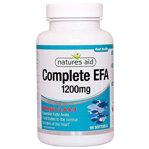 Natures Aid Complete EFA (Essential Fatty Acids) Omega 3 6 + 9 90 Caps (Bio-leinöl Kapseln)