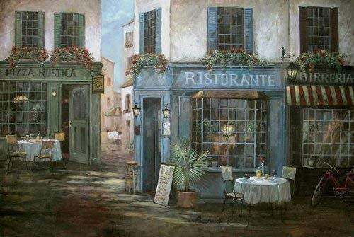 Stretched Canvas Picture - Ruane Manning: Pizza Rustica 50 x 75 cm Canvas Picture
